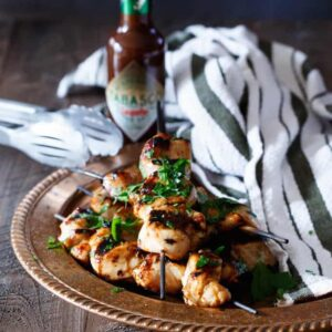 Spicy Chipotle Honey Chicken Kebabs | sharedappetite.com