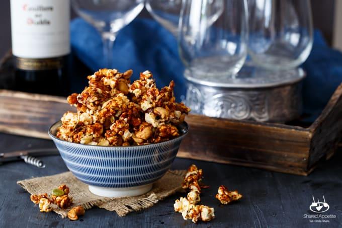 Honey Gochujang Popcorn Clusters | sharedappetite.com