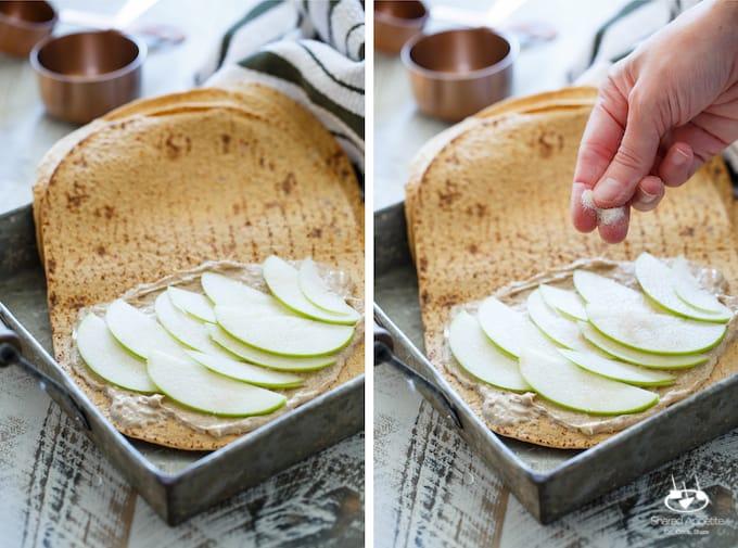 Caramel Apple Cheesecake Quesadillas | sharedappetite.com