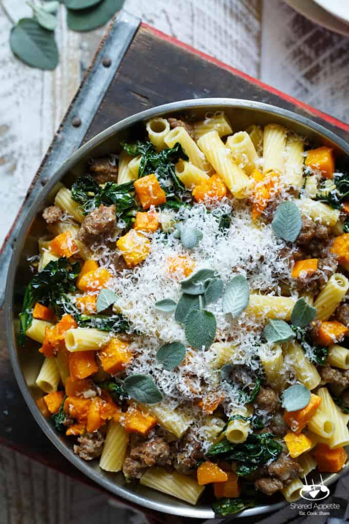 Recipe roasted butternut squash pasta