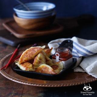 southwest Omelette Breakfast Wontons   sharedappetite.com