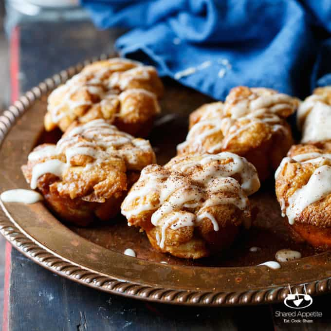 Eggnog Monkey Bread Muffins - Shared Appetite