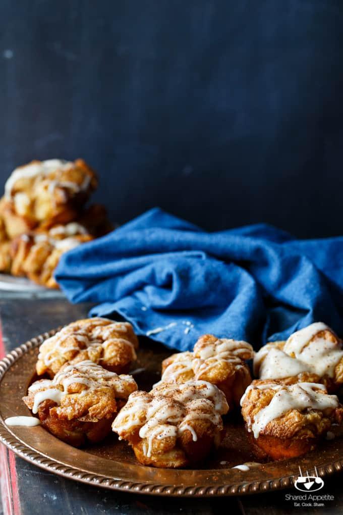 Eggnog Monkey Bread Muffins | sharedappetite.com