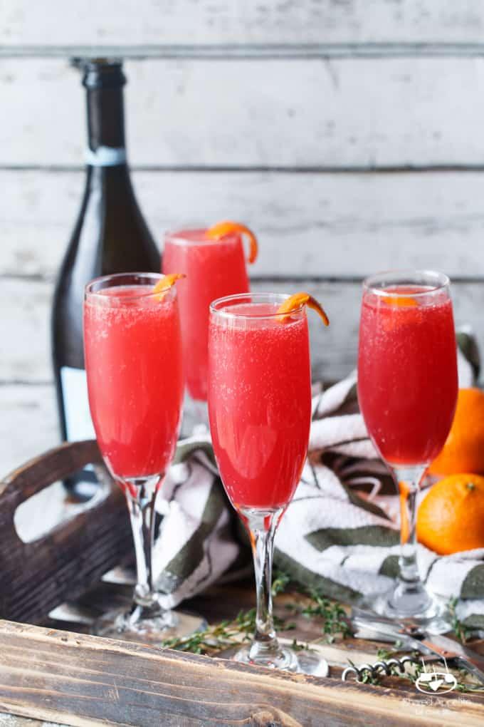 Blood Orange Thyme Mimosas | sharedappetite.com