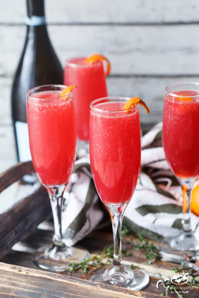 Blood Orange Thyme Mimosas | sharedappetite.com