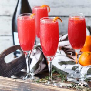 Blood Orange Thyme Mimosas