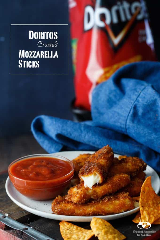 Doritos Crusted Mozzarella Sticks   sharedappetite.com