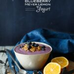 Vegan Blueberry Meyer Lemon Yogurt | sharedappetite.com