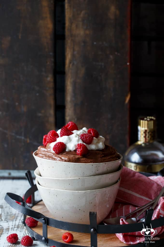 Vegan Chocolate Raspberry Mousse | sharedappetite.com
