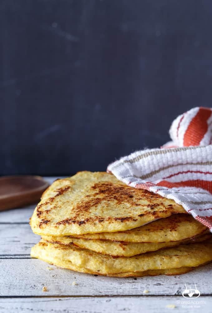 Paleo + Gluten-Free Cauliflower Tortillas | sharedappetite.com