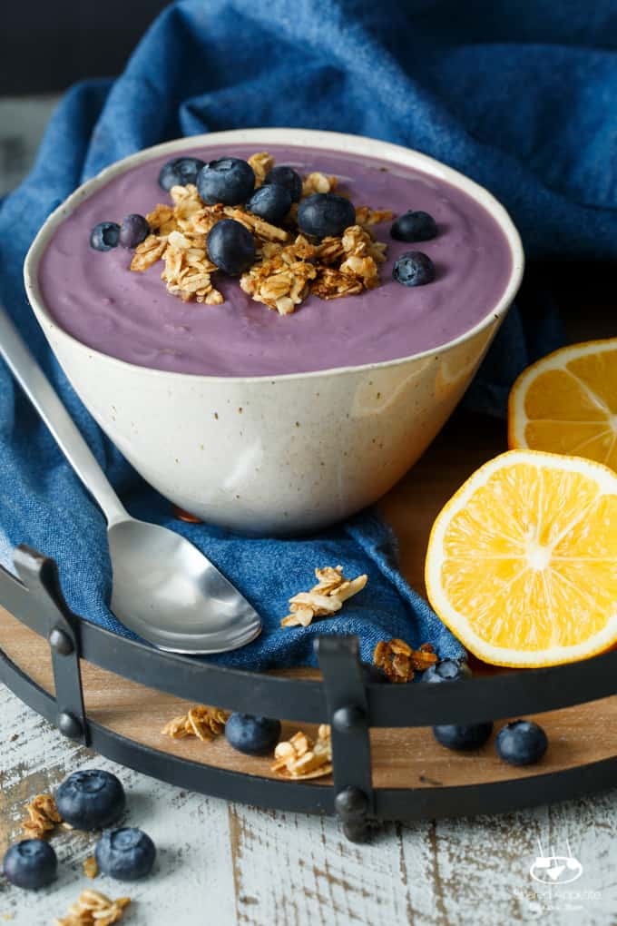 Vegan Blueberry Meyer Lemon Yogurt | sharedappetite.com