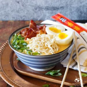 Bacon, Egg, and Cheese Breakfast Ramen | sharedappetite.com