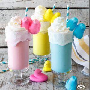 Toasted Marshmallow Easter Peeps Milkshakes