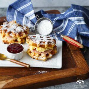 Monte Cristo Waffle Breakfast Sandwiches