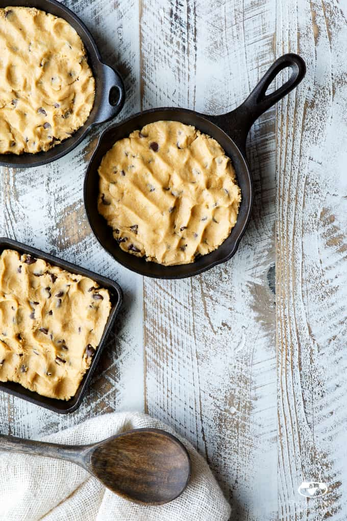 Skillet Chocolate Peanut Butter Cookie Tagalong Brownie Sundaes | sharedappetite.com A great way to feature those girl scout cookies in an epic dessert mashup of half cookie, half brownie goodness!