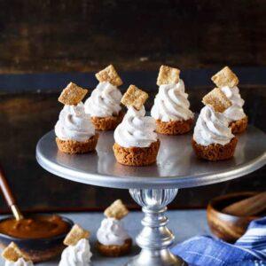 No Bake Cinnamon Toast Crunch Cheesecake Bites | sharedappetite.com