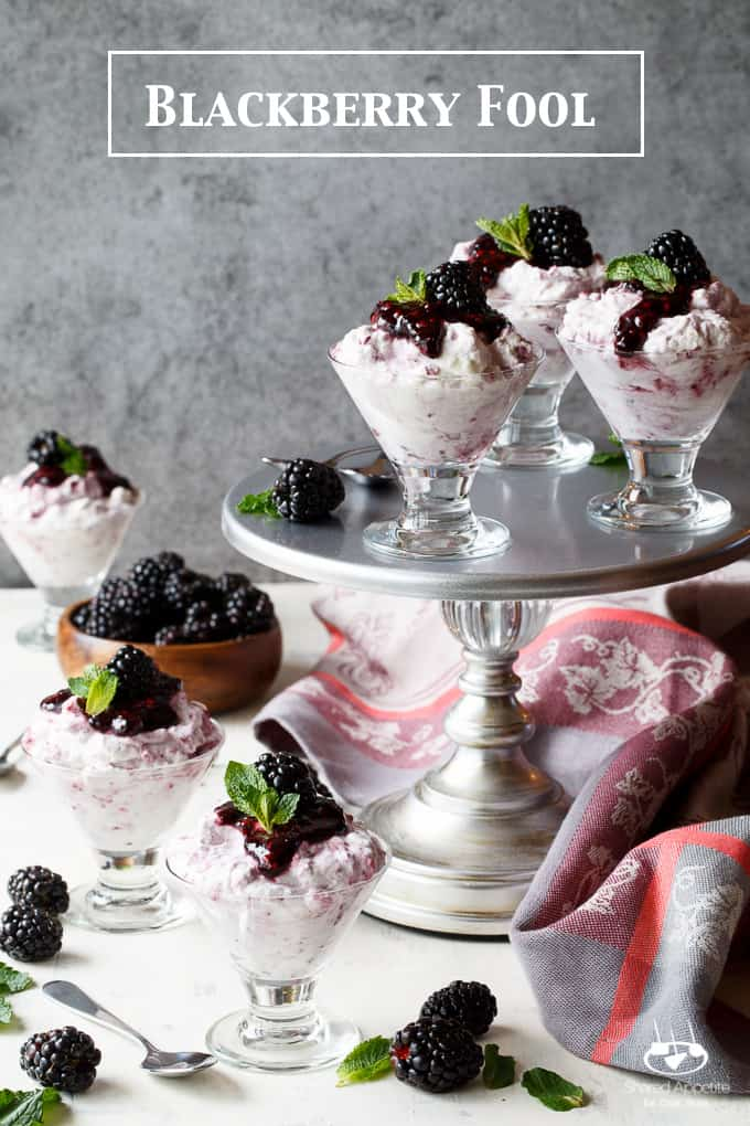 Blackberry Fool | sharedappetite.com A light and refreshing berry dessert that comes together in just 15 minutes, this Blackberry Fool is perfect for easy spring and summer entertaining.