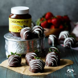 Chocolate Hazelnut Filled Chocolate Covered Strawberries | sharedappetite.com
