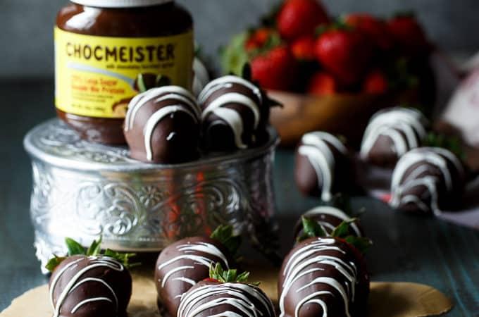 Chocolate Hazelnut Filled Chocolate Covered Strawberries | sharedappetite.com