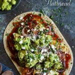 Grilled Spicy Pineapple, Bacon, and Avocado Flatbread with BBQ Sauce, Grilled Onions, and Charred Jalapenos | sharedappetite.com