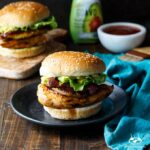 Grilled Sriracha Honey Chicken Sandwiches with Ancho Chile Pineapple, Bacon, and Avocado | sharedappetite.com
