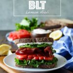 Healthy California BLT with Lemon Aioli, Turkey Bacon, Avocado, and Sprouts | sharedappetite.com