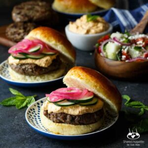 Lamb Kefta Burgers with Spicy Whipped Feta
