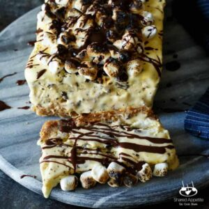 S'mores Semifreddo with a Graham Cracker Crust | sharedappetite.com This S'mores Semifreddo combines the richness of ice cream with the light airy texture of mousse!