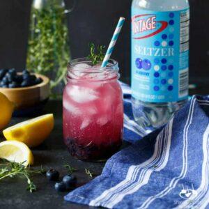 Sparkling Blueberry Thyme Lemonade