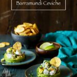Spicy Roasted Corn Barramundi Ceviche with Avocado and Plantain Chips | sharedappetite.com