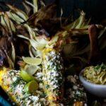 Roasted Corn with Sriracha Avocado Butter, Queso Fresco, and Cilantro | sharedappetite.com