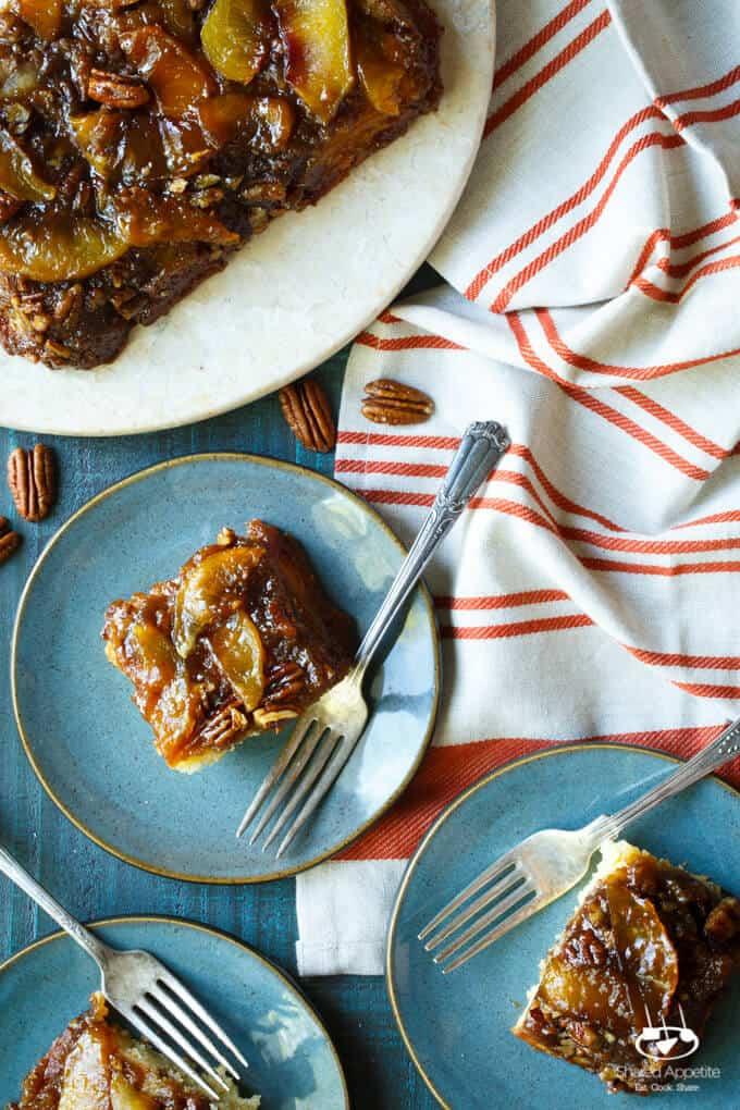 Peach Bourbon Caramel Cake | sharedappetite.com