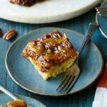 Peach Bourbon Caramel Cake   sharedappetite.com