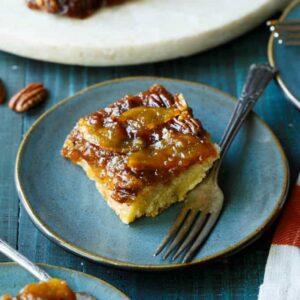 Peach Bourbon Caramel Cake