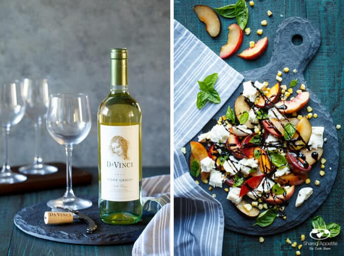 Stone Fruit Caprese Salad with Grilled Corn | sharedappetite.com