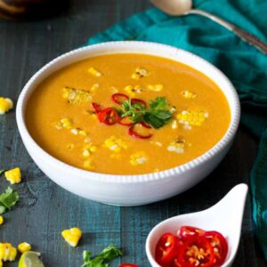 Vegan Thai Corn Soup | sharedappetite.com