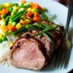 Black Cherry Glazed Pork Tenderloin | sharedappetite.com