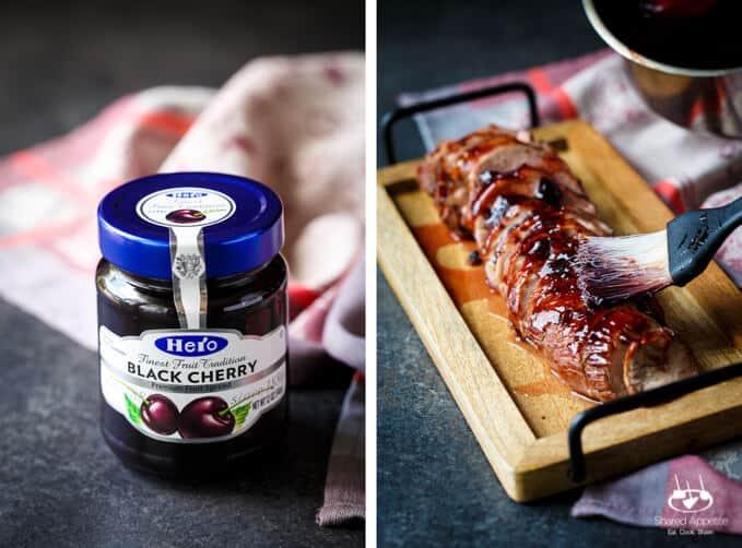 Black Cherry Glazed Pork Tenderloin   sharedappetite.com
