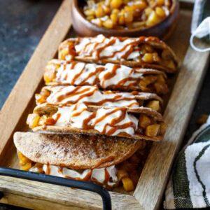 Caramel Apple Pie Tacos