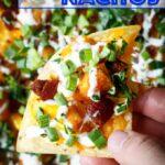 Honey BBQ Chicken Nachos with Bacon, Scallions, Corn, and Ranch Dressing   sharedappetite.com
