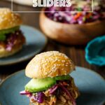 Slow Cooker Spicy Asian Chicken Sliders | sharedappetite.com