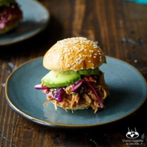 Slow Cooker Spicy Asian Chicken Sliders