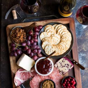 Winter Holiday Charcuterie Board
