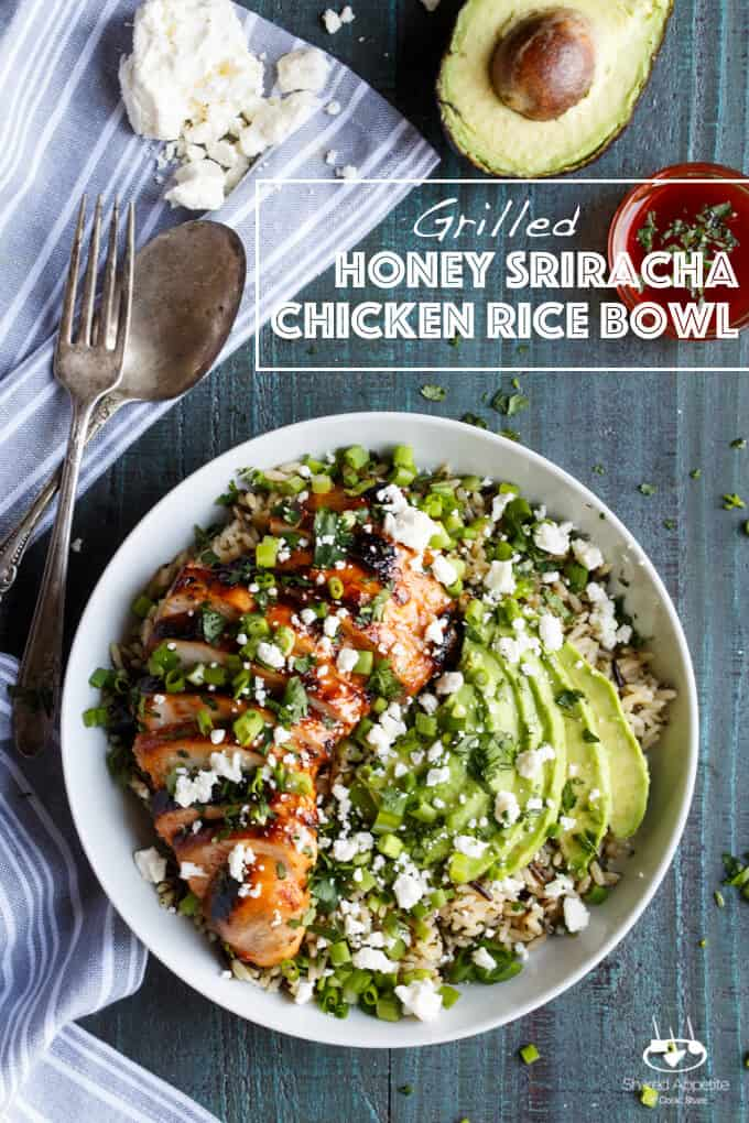 Grilled Honey Sriracha Chicken Rice Bowl Shared Appetite