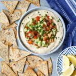 Vegan Mediterranean Hummus Dip with Israeli Salad | sharedappetite.com