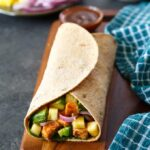 hawaiian bbq chicken wrap with avocado | sharedappetite.com