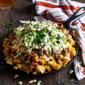Bacon Cheeseburger Tater Tot Nachos