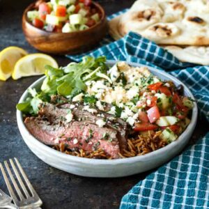 Grilled Flank Steak Shawarma Bowls