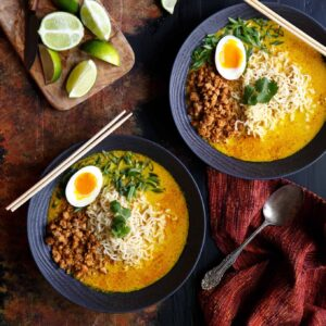 Spicy Pork Thai Coconut Curry Ramen