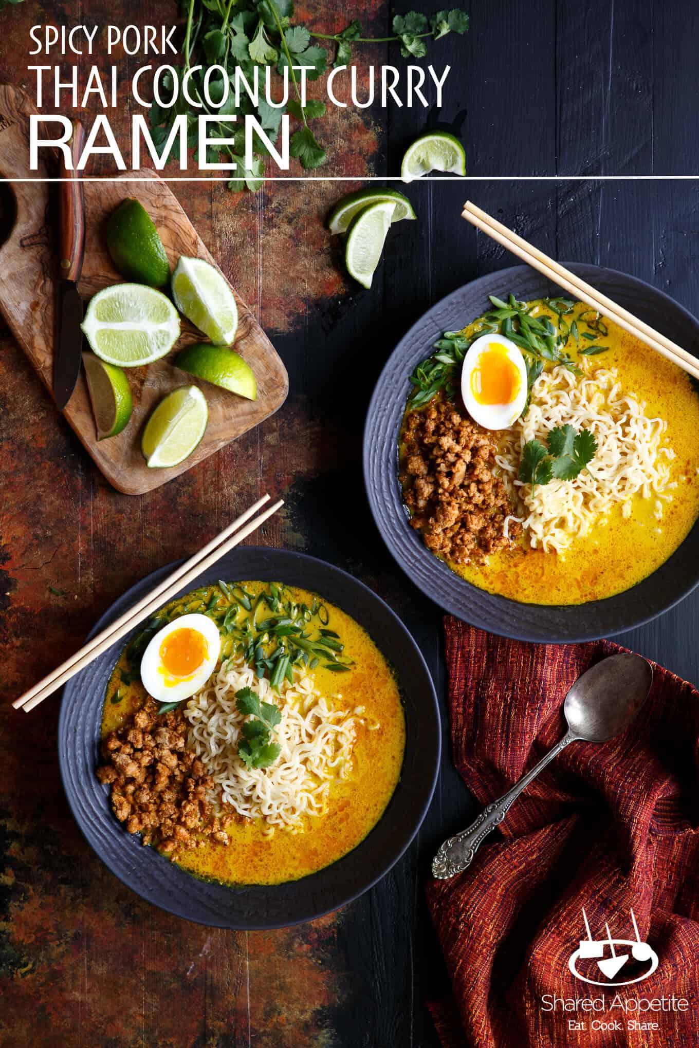 Spicy Pork Thai Coconut Curry Ramen